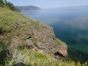 Shoreline of Lake Baikal near Bolshie Koty. This blog post is about a Skype call - I can't bring myself to post a picture of people on a Skype call, so let's look at the lake instead! Photo: Stephanie Hampton, 2013.